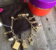 Gift Box! Kate Spade New York 'Kiss A Prince' Bridal Charm Bracelet, NWT #KateSpade