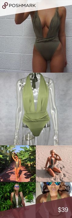 Aaliyah Swimsuit • Olive • COMING SOON! olive green color • high quality material, lining + padded cups  • see size chart for detailed sizing • new boutique item, comes in plastic w/o tags • Questions? Just ask!  • Bundle to save • Use the offer button to negotiate   ❤︎ @sabineforever | Instagram & Pinterest  ❤︎ sabineforever.com for style, beauty, lifestyle and more fashion & accessories. ❤︎personal shopping & styling services available. Inquire for more information. Swim One Pieces