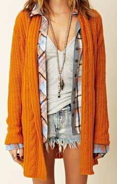 BB Dakota Cable Neck Cardigan...I love my chunky knit sweaters.  #planetbluefall