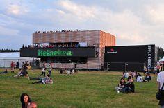 Heineken Opener Festival Poland 2013, construction Pavilion and Design Stage - design: Studio Rygalik and Horeca Group, production: Horeca Group