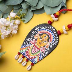 Fabric Necklace, Fabric Jewelry, Necklace Set, Flower Jewelry, Hand Painted Fabric, Fabric Art, Terracotta Jewellery Making, Handmade Jewelry Designs, Handmade Jewellery