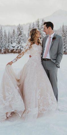 24 Winter Wedding Dresses & Outfits   Wedding Forward