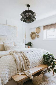 Room Ideas Bedroom, Home Bedroom, Modern Bedroom, Boho Bedroom Decor, Bedrooms, Dream Rooms, Dream Bedroom, Boho Home, Aesthetic Bedroom