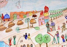 """""""Gaza through the eyes of it's children. (U.S Censored Drawings)"""" Gaza vista por sus niños (Dibujos censurados en Estados Unidos)"""