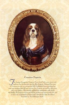 vintage dog pictures | Click to Enlarge Cavalier King Charles Eugenia Print - T. Poncelet $15 ...