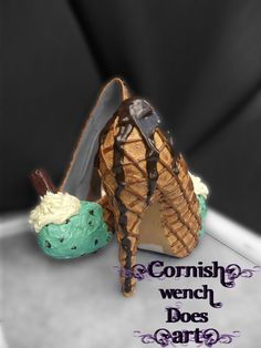 Ice Cream and Cone High Heels Made To Order In Any Size or Flavour! on Etsy, £75.00