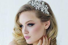 Rosalie Pearl and Diamante Side Tiara Headband