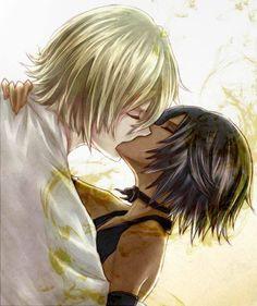 Urahara Kisuke and Shihouin Yoruichi <3