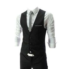 Men's Top Designed Casual Slim Fit Skinny dress Vest Waistcoat