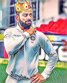 An absolute king is standing before the crowd Test Cricket, Cricket Sport, Dapper Haircut, 2007 World Cup, Virat Kohli Instagram, Virat Kohli Wallpapers, Virat And Anushka, Ab De Villiers, Avengers Art