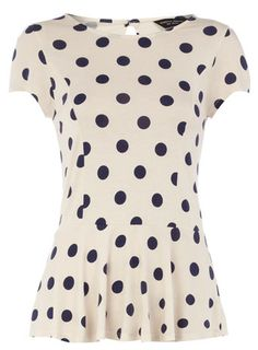 I love polka dots a little too much -- polka dot peplum