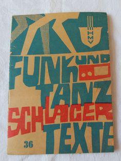 DDR- Musiktexte, Funk und Tanz Schlagertexte Nr. 36, 1971   eBay
