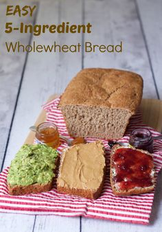 Easy 5-Ingredient Wholewheat Bread