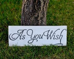 Rustic Handmade As You Wish Wood Sign Wedding Decor by HudsyBee