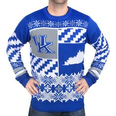 Kentucky Wildcats Klew Thematic Ugly Sweater - Royal