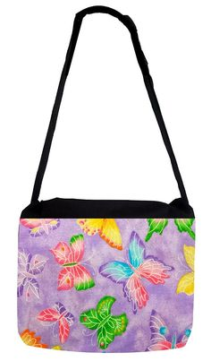 Rosie Parker Inc. TM Medium Sized Messenger Bag 11.75' x 15.5' and 5' x 8' Pencil Case SET - Pastel Butterfly Pattern *** Continue to the product at the image link.