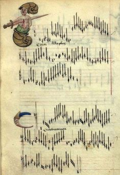 'Chansons d'Amour' - also known as 'The Copenhagen Chansonnier' [Thott 291 8º] - was produced in the late 15th century. It consists of illuminated scores for 30 love songs, arranged for 3 voices.
