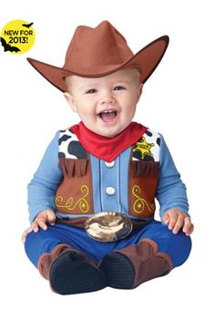 One of my friends called not to long ago to announce that him and his wife are expecting a new baby. Not just any kind of baby, but a cowboy baby. Toddler Halloween Costumes, Halloween Fancy Dress, Baby Costumes, Baby Halloween, Spirit Halloween, Trendy Halloween, Cowboy Baby, Western Cowboy, Cowboy Suit