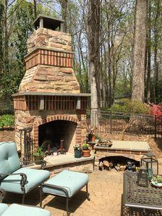 Stone And Brick Fireplace fireplace using stone and slate with a brick wall back drop. pine
