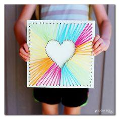 Heart String Art  - CountryLiving.com