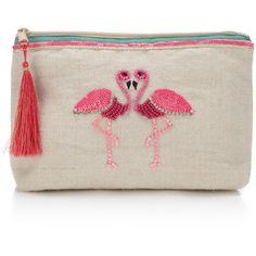 Accessorize Gemma Flamingo Makeup Bag