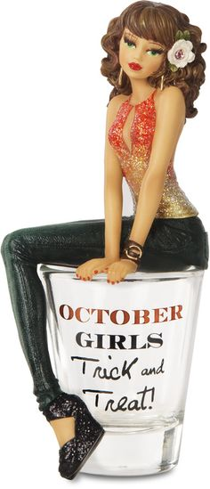 """October, 5.75"""" Girl in Shot Glass - Hiccup - Pavilion"""