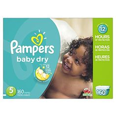 Pampers Baby Dry Diapers Size 5 160 Count * For more information, visit image link.