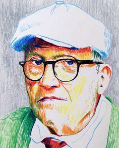 David Hockney #art #drawing #colourpencils