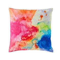This multicolor velvet throw pillow features a comfy, 100% cotton velvet construction, as well as a beautifully colorful design.