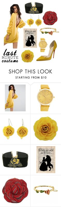 """""""Punk Belle"""" by bellestar7 ❤ liked on Polyvore featuring ASOS, NOVICA, Vanessa Mooney, Disney, Judith Leiber and Christian Louboutin"""