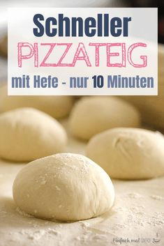 A quick pizza dough can be made with yeast almost without walking. While you are preparing the topping, the dough is ready and easy to use! This recipe delivers a pizza with a wonderfully crispy crust Dog Eating, Eating Raw, Deck Oven, Pepperoni Rolls, Savarin, Quick Pizza, Hidden Vegetables, Baking Business, Gluten Intolerance