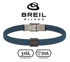 BREIL (Milano) - pánsky náramok osadený prírodným čiernym diamantom - 21cm Belt, Accessories, Design, Fashion, Diamond, Belts, Moda, Fashion Styles