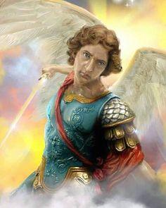 Catholic Art, Catholic Saints, Religious Images, Religious Art, Catholic Archangels, San Uriel, Angel Hierarchy, Male Angels, Angel Warrior