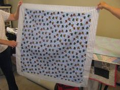 Baby quilt made by Nancy.  Too cute
