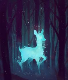 Please unmute~  What's your patronus on pottermore? • apparently my patronus is a mink, which looks pretty cute haha ~ Played around with an old painting of Severus's patronus in after effects. #tbt • • • • Credits: Music composition - John Williams Music box version - music box conversion machine (user) on YouTube