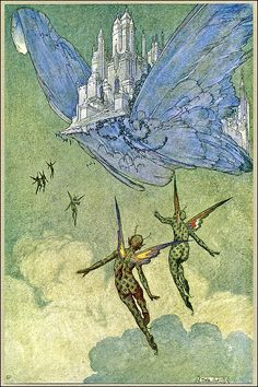 Butterfly City--Vintage Franklin Booth Illustration