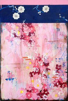 """Pink Rain and White Roses,"" 36 x 24 (c) 2013, Kathe Fraga www.kathefraga.com"
