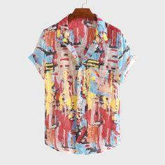 Loose Shirts, Printed Shirts, Button Up Shirts, Pocket Shirts, Men's Fashion, Ethnic Fashion, Latex Fashion, Camisa Floral, Streetwear