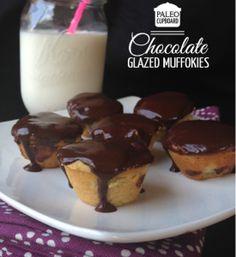 Paleo Almond Butter and Chocolate Glaze Muffookies
