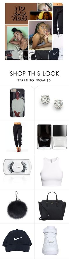 """""""don't get it twisted.. you was just another n'igga on the hit list tryna fix your inner issues with a bad b'itch"""" by k-ingpin ❤ liked on Polyvore featuring Saks Fifth Avenue, Butter London, Derriére, MAC Cosmetics, H&M, Kate Spade and NIKE"""