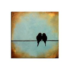 Original Birds on a Wire Painting12 x by ContemporaryEarthArt