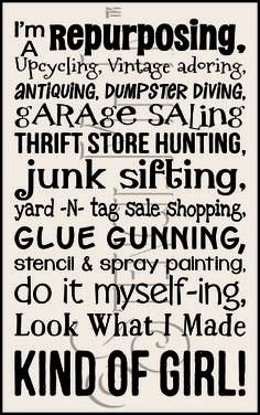Do It Myself Kind Of Girl Typography Stencil