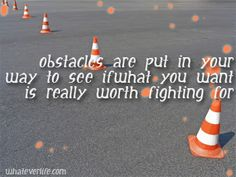 My obstacles have been many lately, but I press on