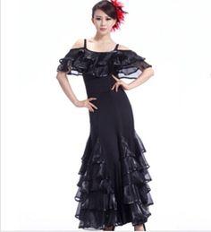 ballroom dance dress Purple Red Black phil modern dance free shipping waltz dresses saia social tango dances