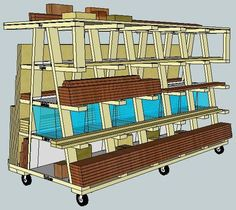 1000 images about wood storage on pinterest lumber for Rolling lumber cart plans