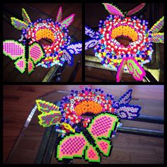 .@n3on_butt3rfly crazy butterfly kandi cuff