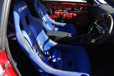 When our friends at Boostjunkies visited us a while ago, they brought their Nissan Skyline fitted with this stylish pair of blue Cobra Monaco Pro bucket seats and TRS harnesses that we supplied.  FIA-approved, affordable and made in the UK, this combination looks stunning in the red Boostjunkies Skyline!  Want a pair? Order your seats today! https://www.sportseats4u.co.uk/cobra-monaco-pro-bucket-seat/prod_655.html