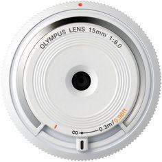 Olympus M.Zuiko Digital 15mm F8 Body Cap Lens - White