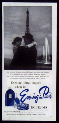 1952 ad for Evening in Paris Perfume.