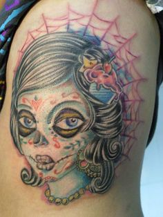 zombie candy pin up skull